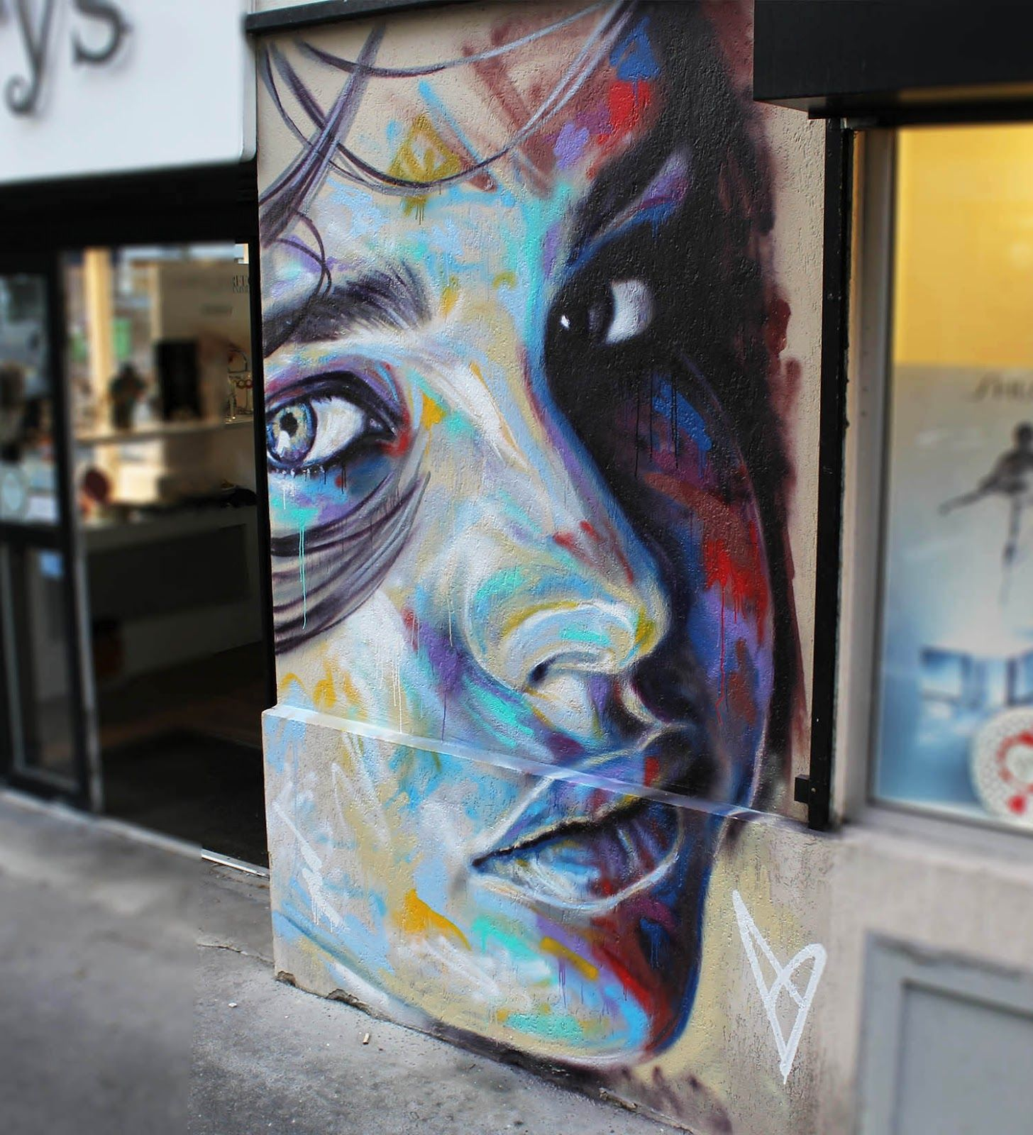 David walker new mural in paris france murals pinterest best
