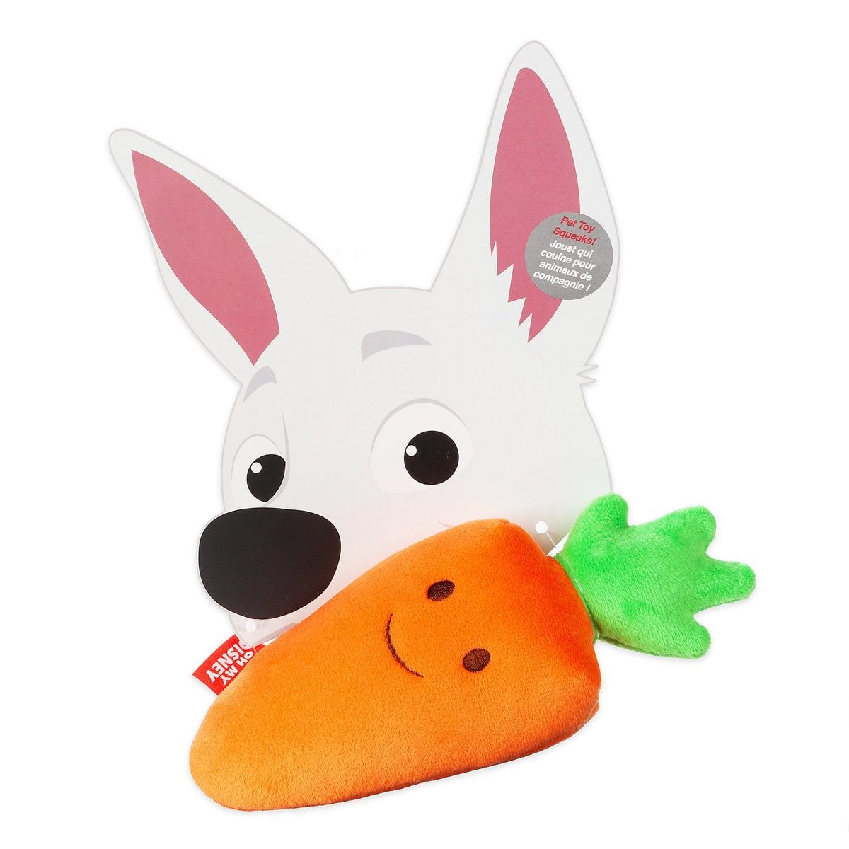 Bolt Mr Carrot Chew Toy Oh My Disney Chew Toy Bolt Dog