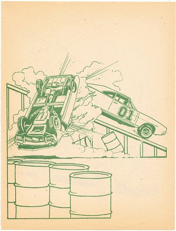 Coloring book page General Lee Dukes of Hazzard | Coloring Book ...