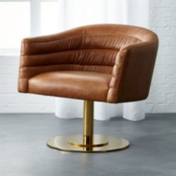Cupa Large Leather Chair Reviews Cb2 In 2020 Leather