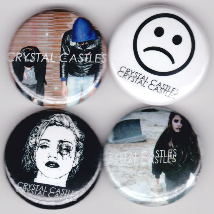 CRYSTAL CASTLES Alice Glass Ethan Kath Band Buttons Pins Badges Pinback