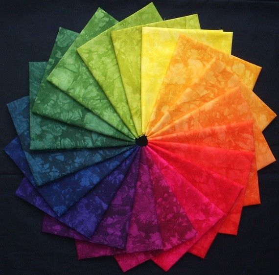 Jewel Tone Color Wheel Hand Dyed Fabric Tuscan Gardens Colorwheel