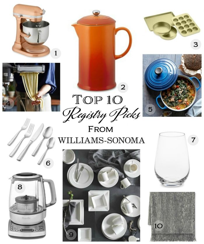 Top 10 Wedding Registry Picks From Williams Sonoma Williams Sonoma Wedding Registry Williams Sonoma Wedding Registry