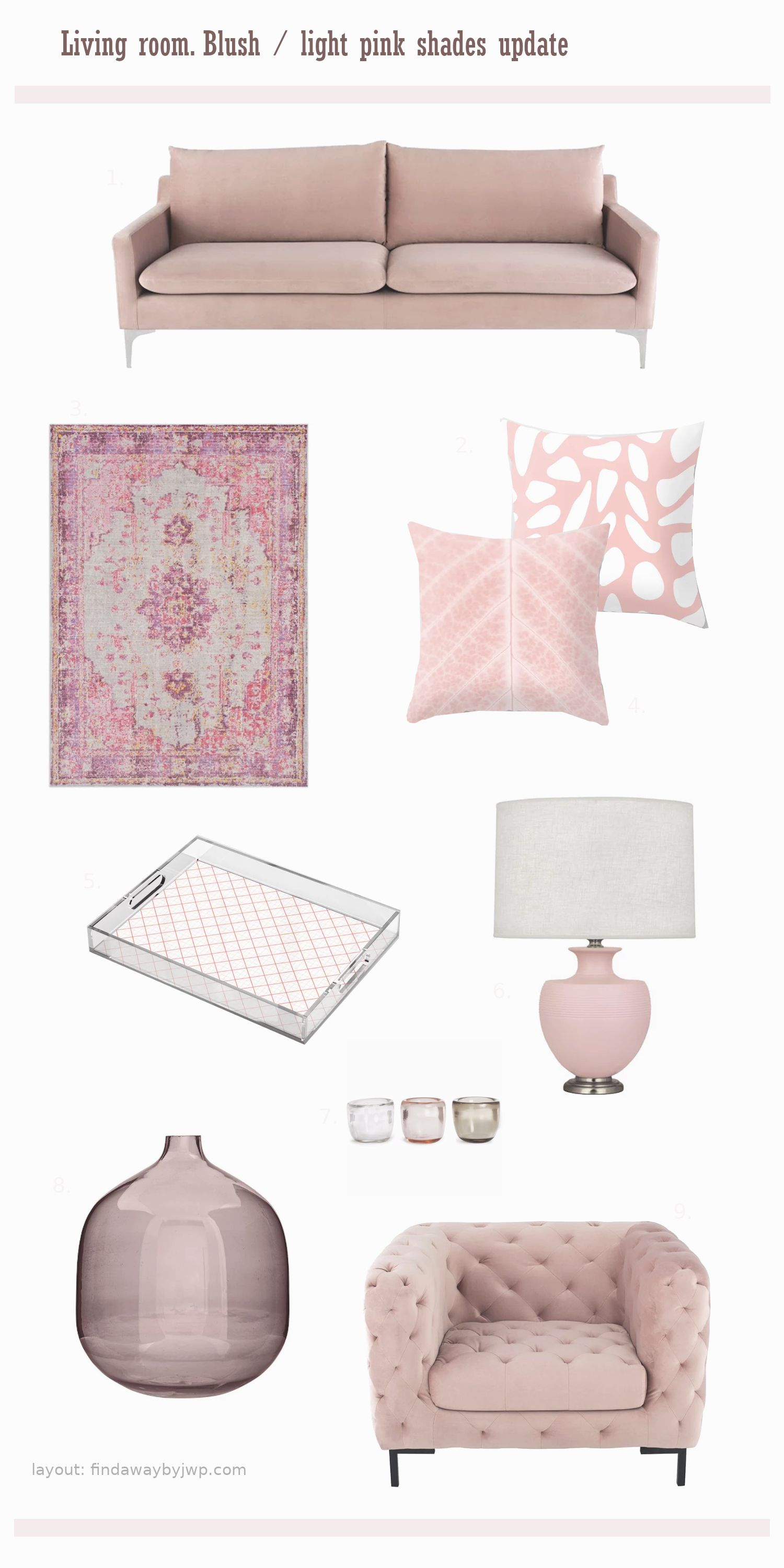Pin On Blush Pink Red Purple Home Decorating Ideas