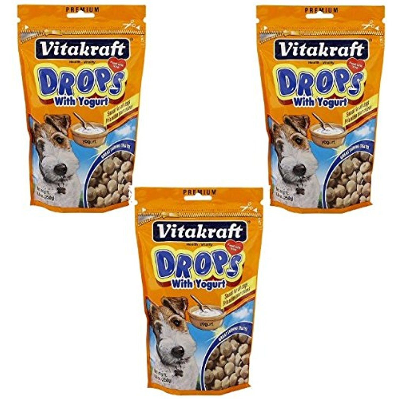 VitaKraft Drops with Yogurt Dog Treat Snacks 3 PACK
