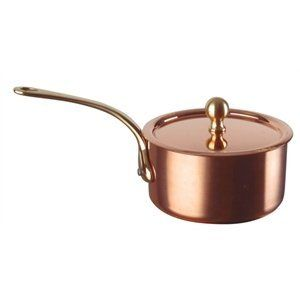 Inocuivre Copper Mini Saucepan 90mm diameter. by De Buyer. $169.24. 2mm thick body.. Easy care and no need for re-plating due to stainless steel inner lining.. High quality copper saucepan with cast stainless steel handle and stainless steel inner lining, offering excellent heat conduction.