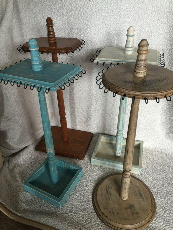 Para La Comoda Wooden Jewelry Stand Diy Jewelry Stand Diy Jewelry Display
