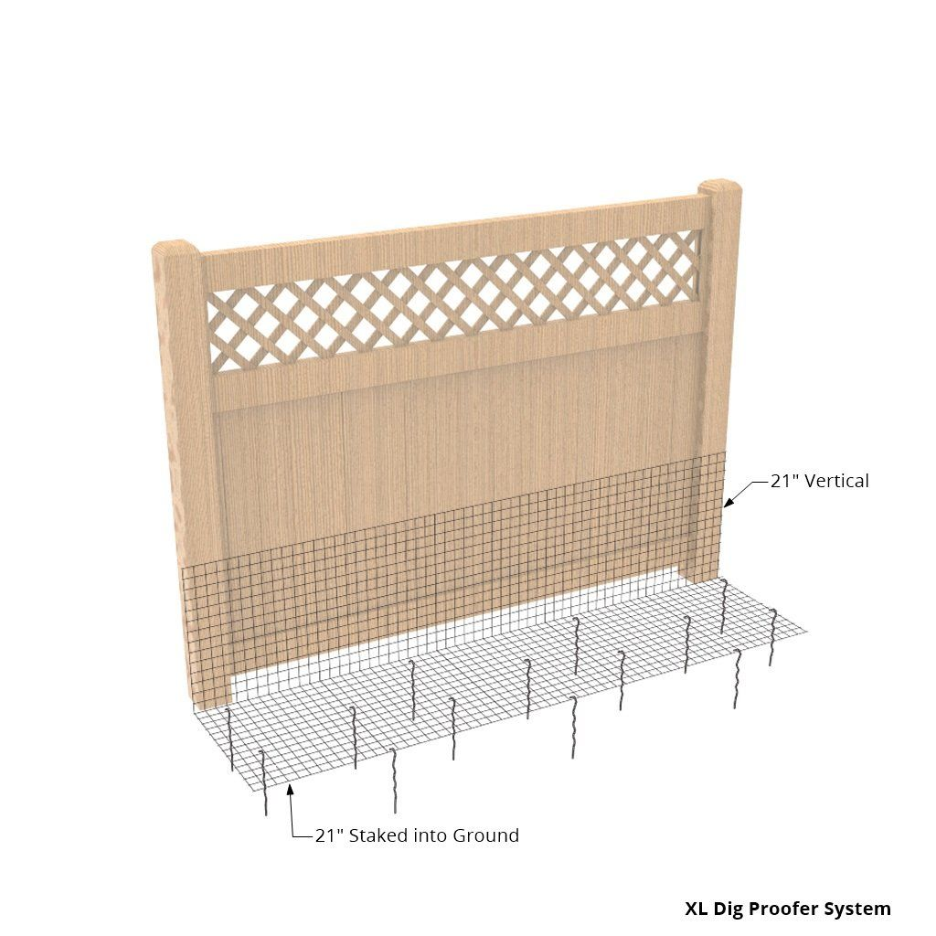 Dig proofer kit for preventing digging under fence dog