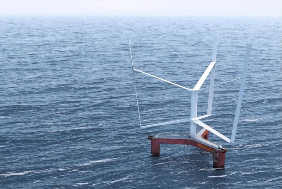 4.18.14 - European Consortium to Develop SPINFLOAT - Led by the French a consortium of 6 organization are involved in  developing a low cost floating VAWT axis turbine.