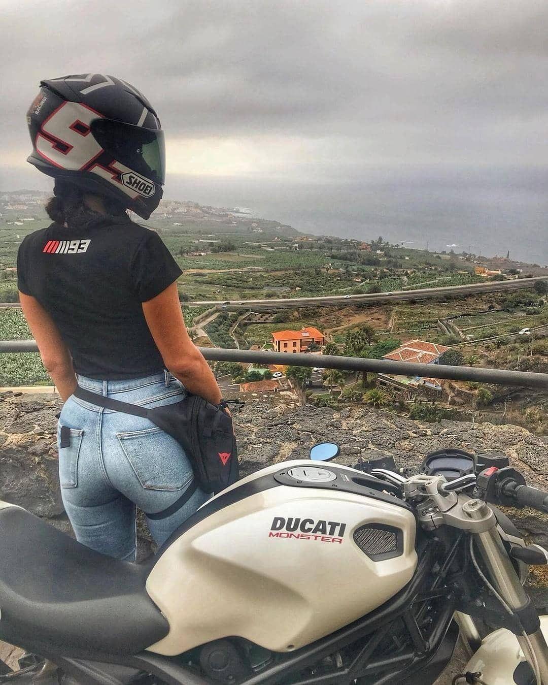 """Sexy Moto Girls on Instagram: """"📷 @jeannette_schaeffler #ducati #ducatimonster #motogirl #motogirls #moto #motorcycle #bike #bikergirl #lifestyle #sherides #motolife…"""""""