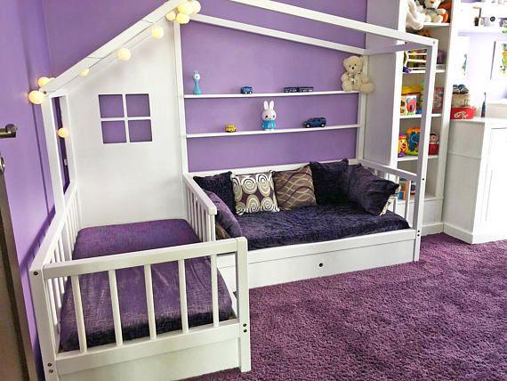 Hochbett L Form : Montessori l form bett sofa mit zwei schubladen home ideas in