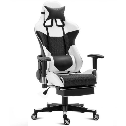 Costway Ergonomic Gaming Chair High Back Racing Office Chair W Lumbar Support Footrest Gaming Chair Chair Drawing Modern Chairs