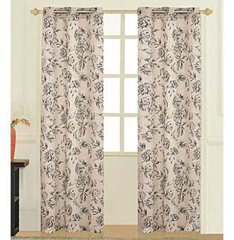 United Curtain Co Fiona Curtain Panel Pair With Images Floral