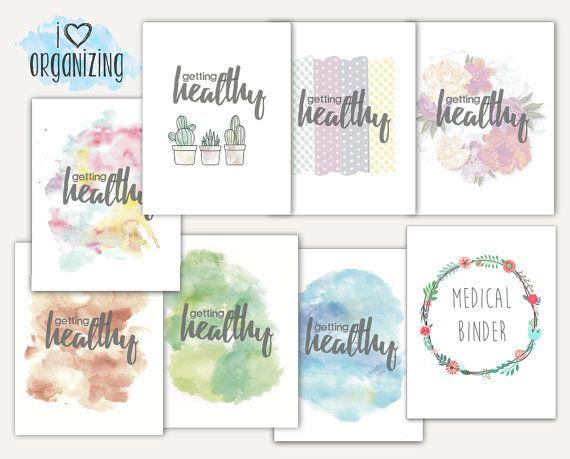 Medical Binder Home Management, Medication, Doctor, Dental, Vision