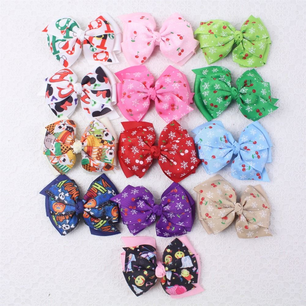 Hair bow button accessories - Find More Hair Accessories Information About 13pcs 3 5 Christmas Cherries Baby Girl Grosgain Boutique Hair