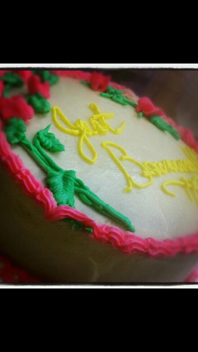 My first Wilton method cake...
