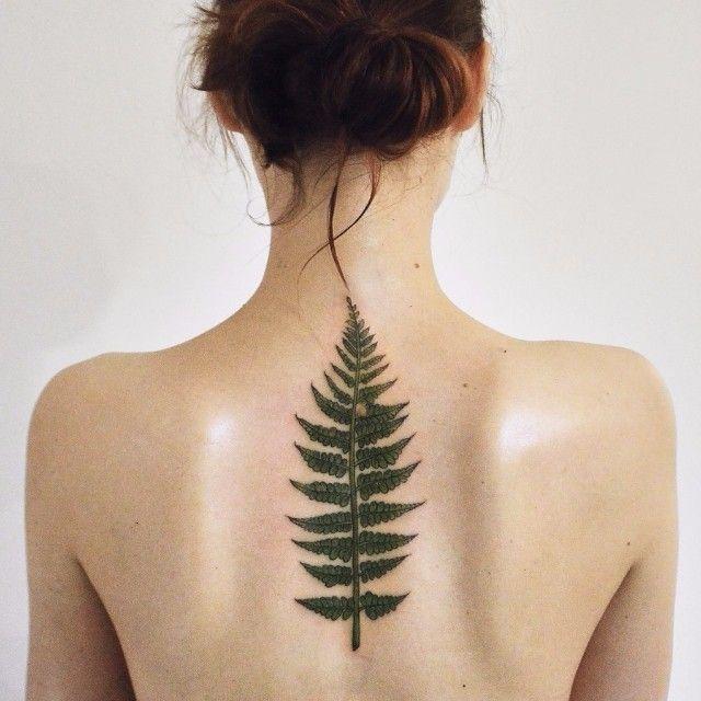Green Brunch of Fern Tattoo