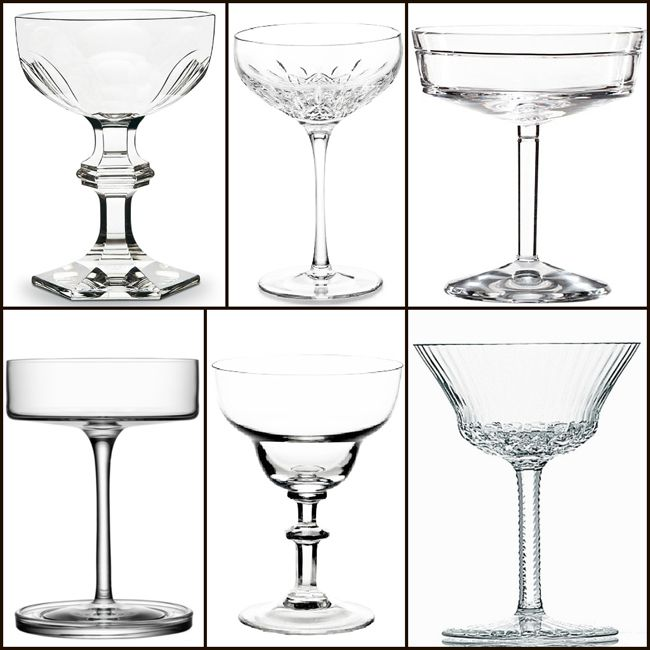 Champagne Coupes From Top Left Harcourt By Baccarat Lismore Essence By Waterford Marc Jacobs David By Waterford Apollo By Saint Louis Samira By T