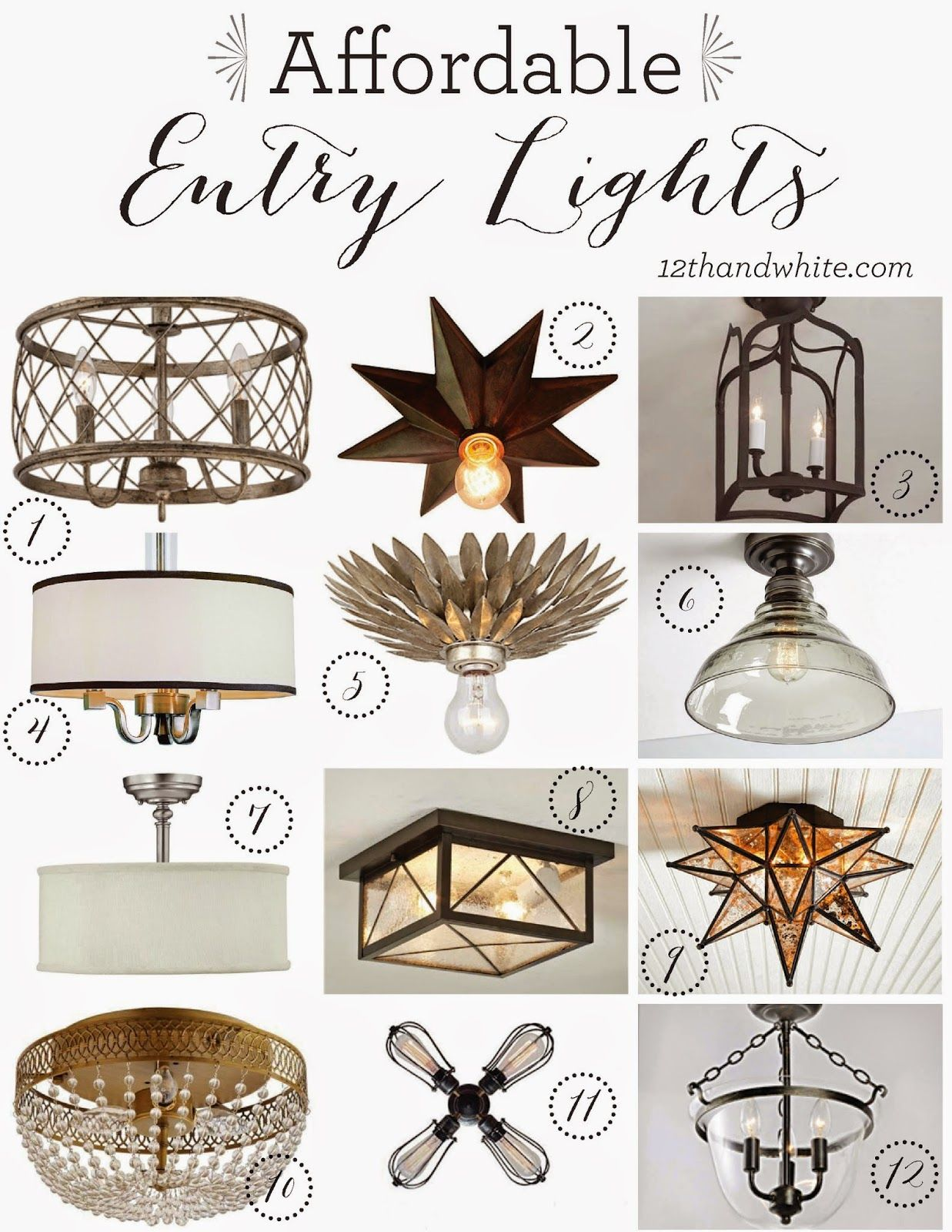 A New Entry Light {And Other Affordable Options} Entry