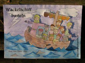 basteln: jesus stillt den sturm | bibelgeschichten basteln, sonntagsschule basteln und bibel für