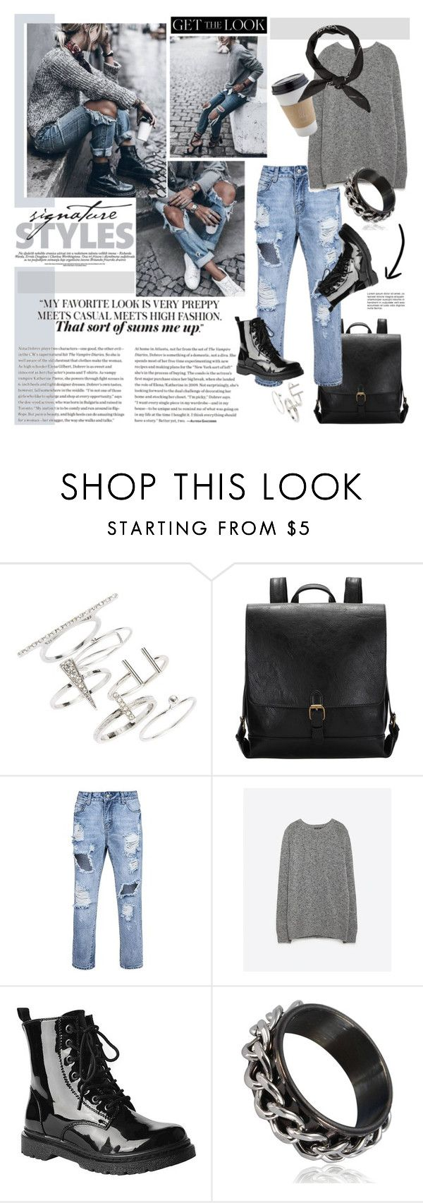 """Weekend Style"" by barngirl ❤ liked on Polyvore featuring Topshop, Zara, OUTRAGE and Gia-Mia"