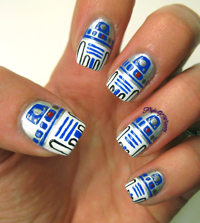 Nerdtastic Tuesday 7: R2D2 | Accent nails, Disney nails and Nail nail