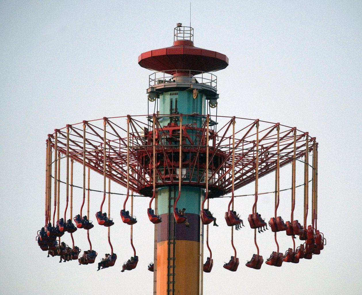 Ca amusement park riders spend hours at  feet  Amusement parks