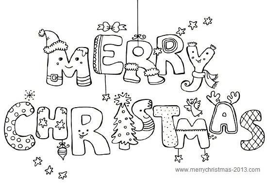 Merry Christmas Pictures to Color and Print for Free