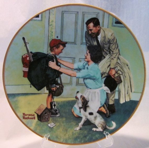 Norman Rockwell Plate Sourced Norman Rockwell Norman Rockwell Plates Rockwell