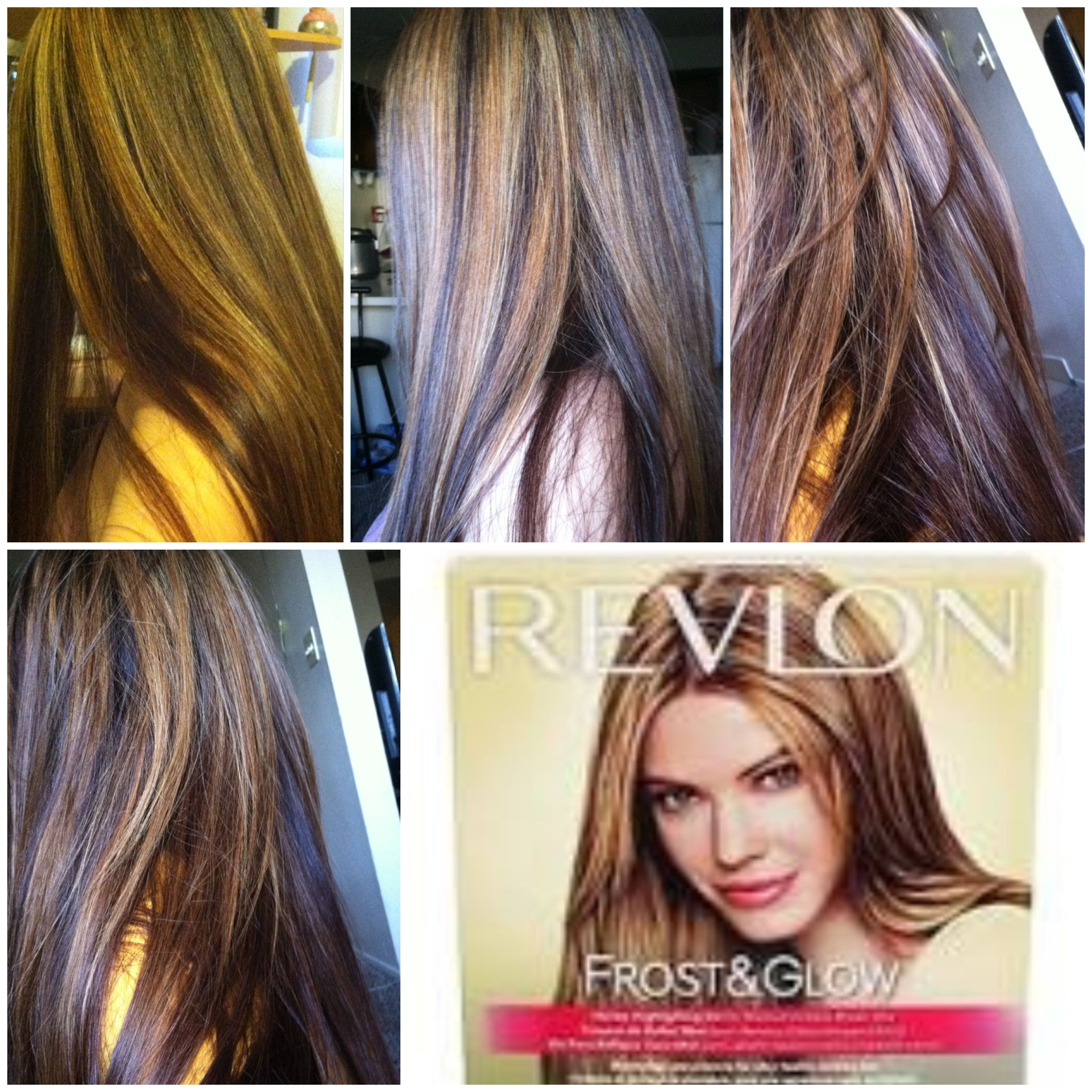 Pinner Said Once Again I Used Revlon Frost And Glow Honey Kit Leave On For An Hour A Half If You Want This Hair Color