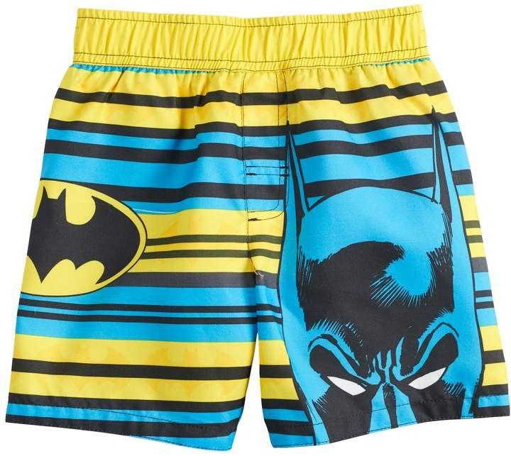 eb929a192b Toddler Boy DC Comics Batman Striped Swim Shorts in 2019   Products ...