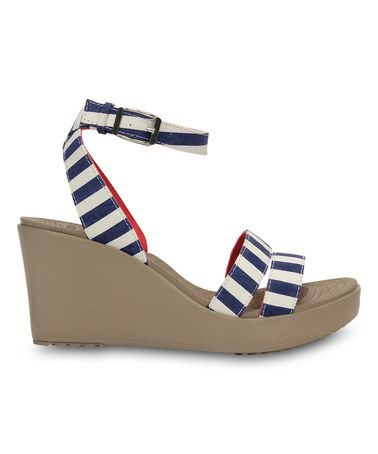 Women's Nautical Striped High Heels Blue White