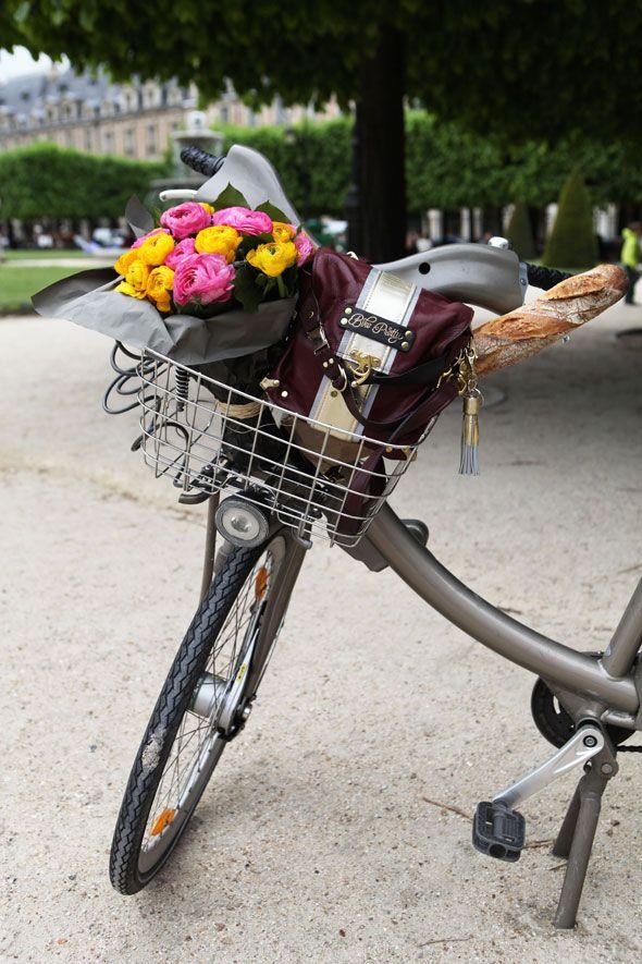 On The Paris Velib Bike Bicycle Pretty