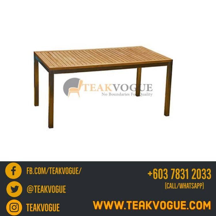 Barra Rectangular Dining Table 210 Teak Outdoor Dining Table