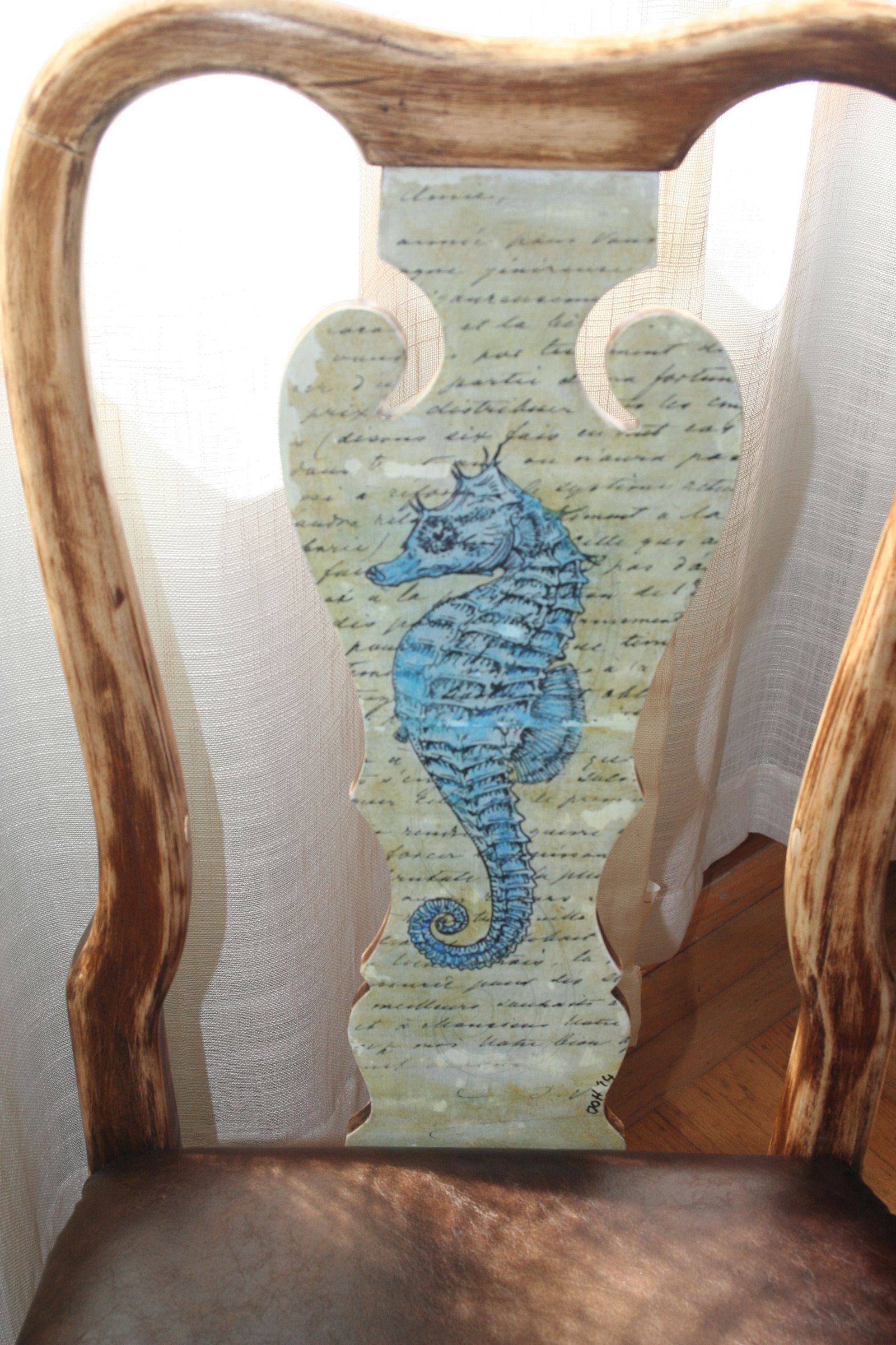 Close Up Of Seahorse Chair