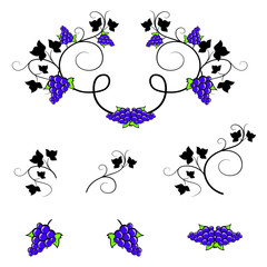 Art Deco Grape Vine Pattern Stock Photos Royalty Free Images Vectors Video In 2020 Wine Frame Design Elements Elements