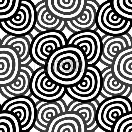 Abstract seamless background - monochrome rings. EPS10 vector.