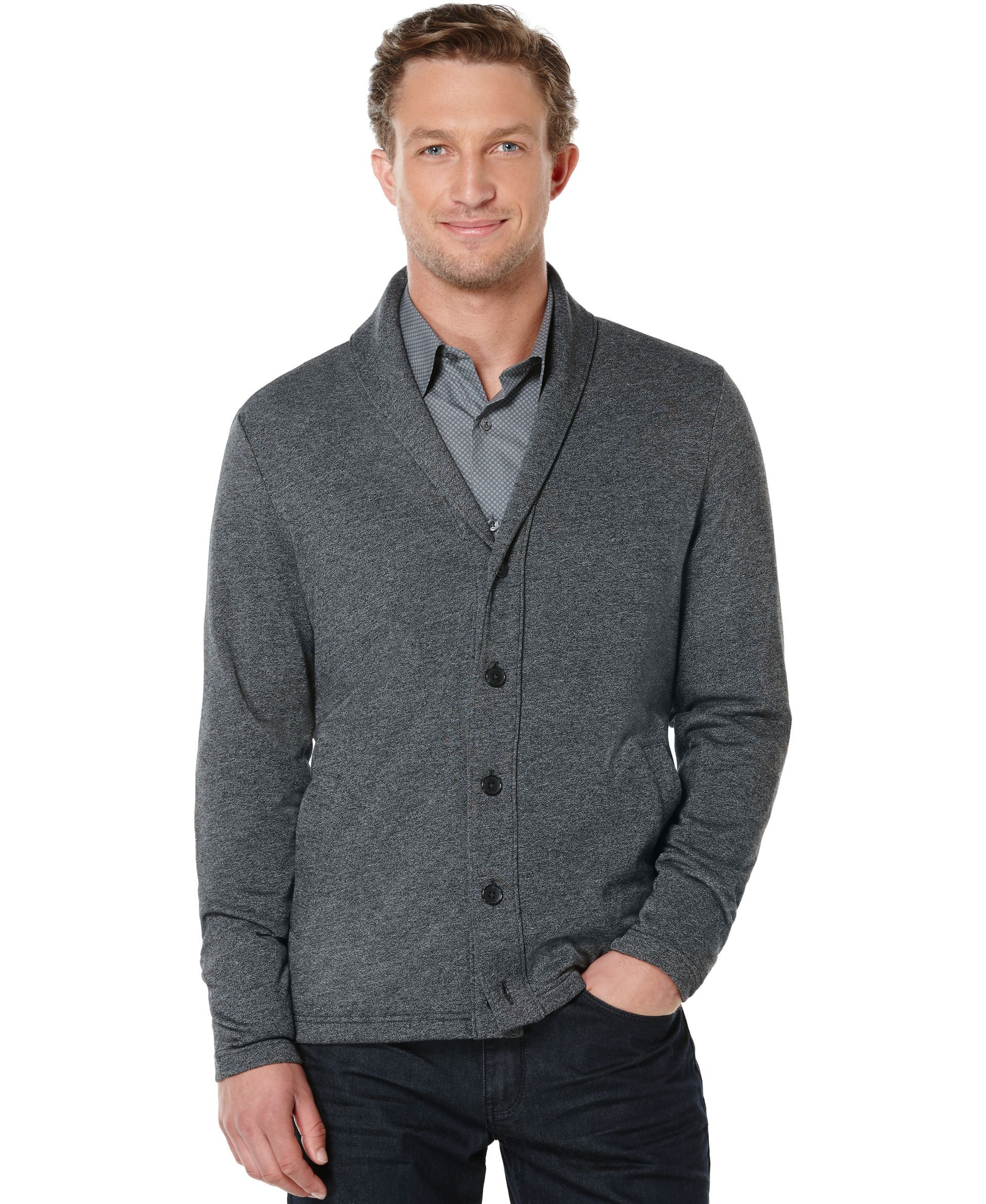 Perry Ellis Shawl Collar Button-Front Cardigan Sweater  363c8b4a3