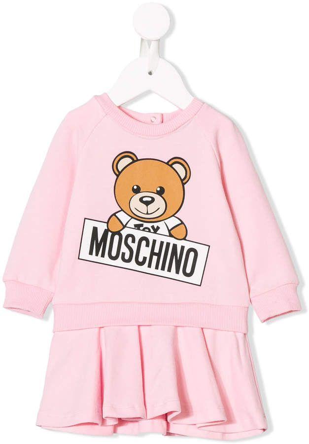 690b300dc7bd7a Moschino Kids teddy bear print dress Vestito Felpa, Abito Di Londra, Abiti  Vestito,