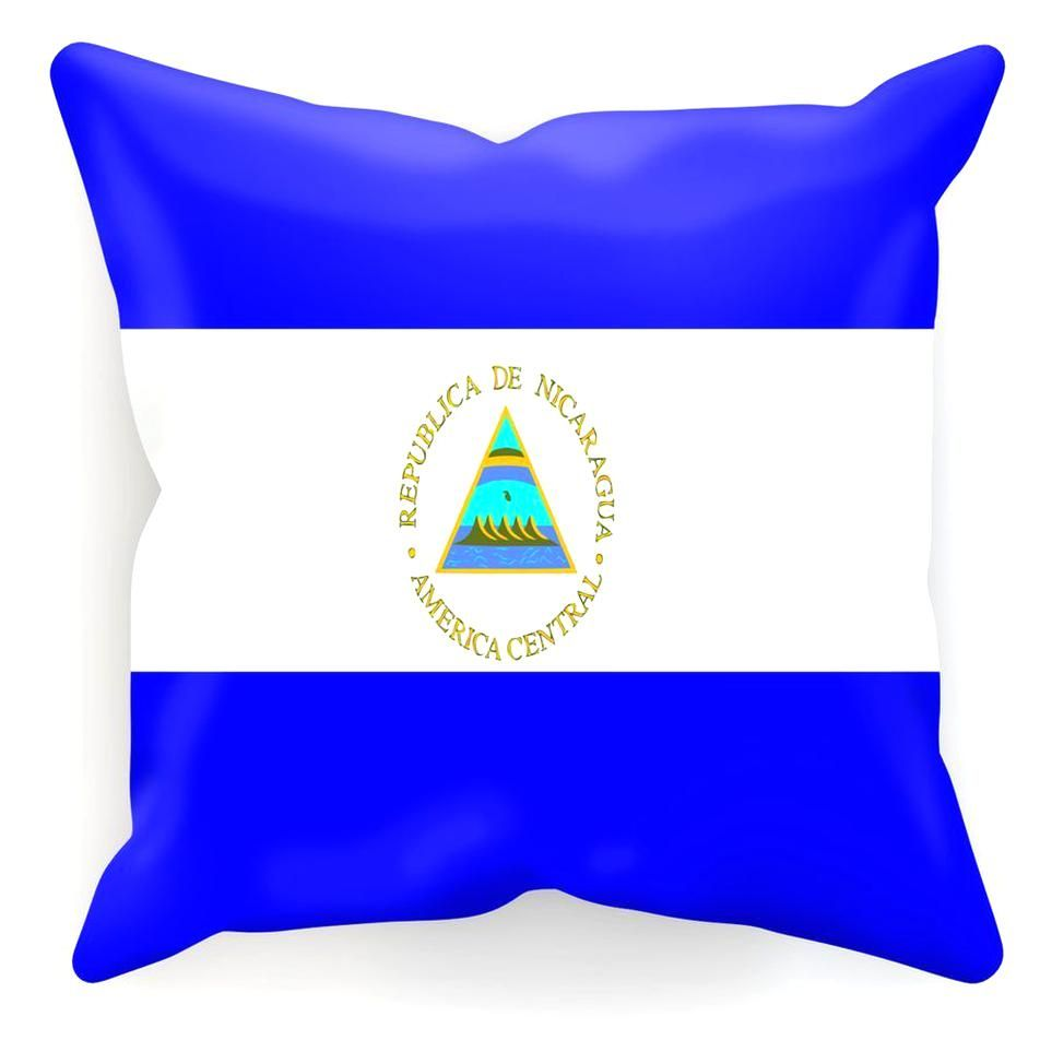 Flag Of Nicaragua Cushion In 2020 Cushions Flag Collection