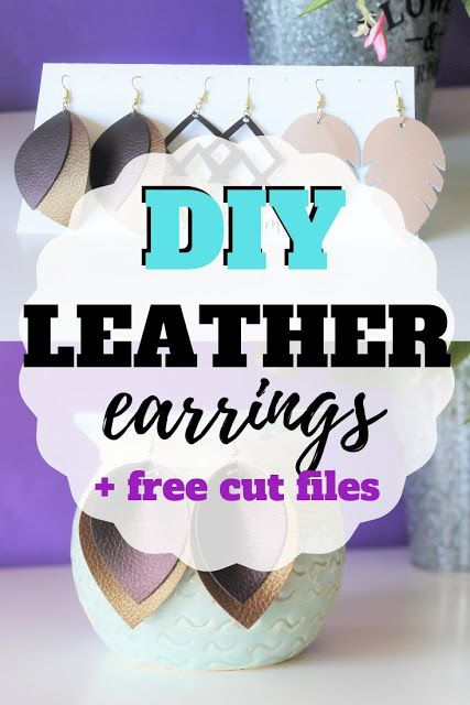 DIY leather earring svg cut file
