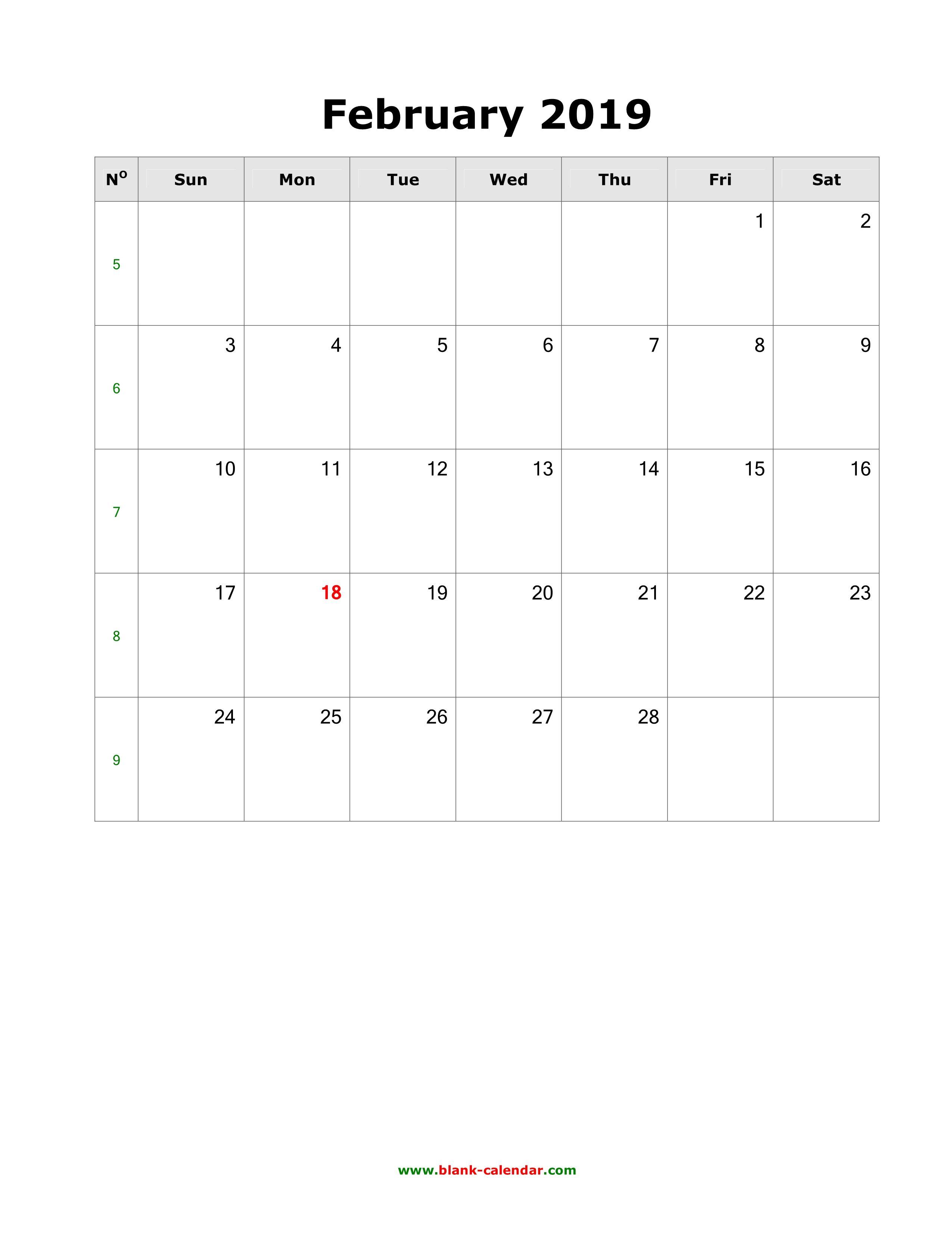 February Calendar To Do List