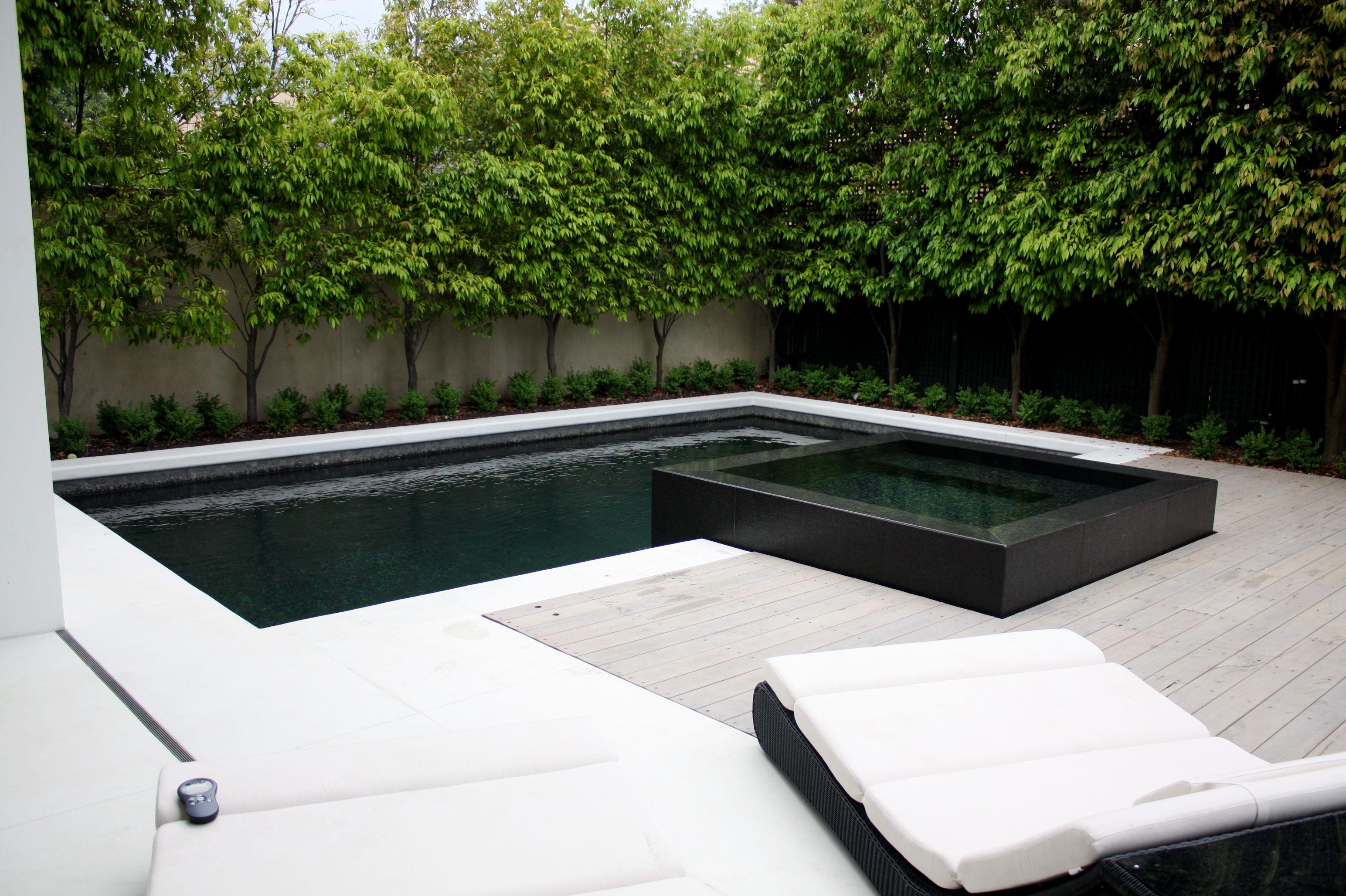 Toorak #1 | Landscape design | Pinterest | Swimming pools, Black ...