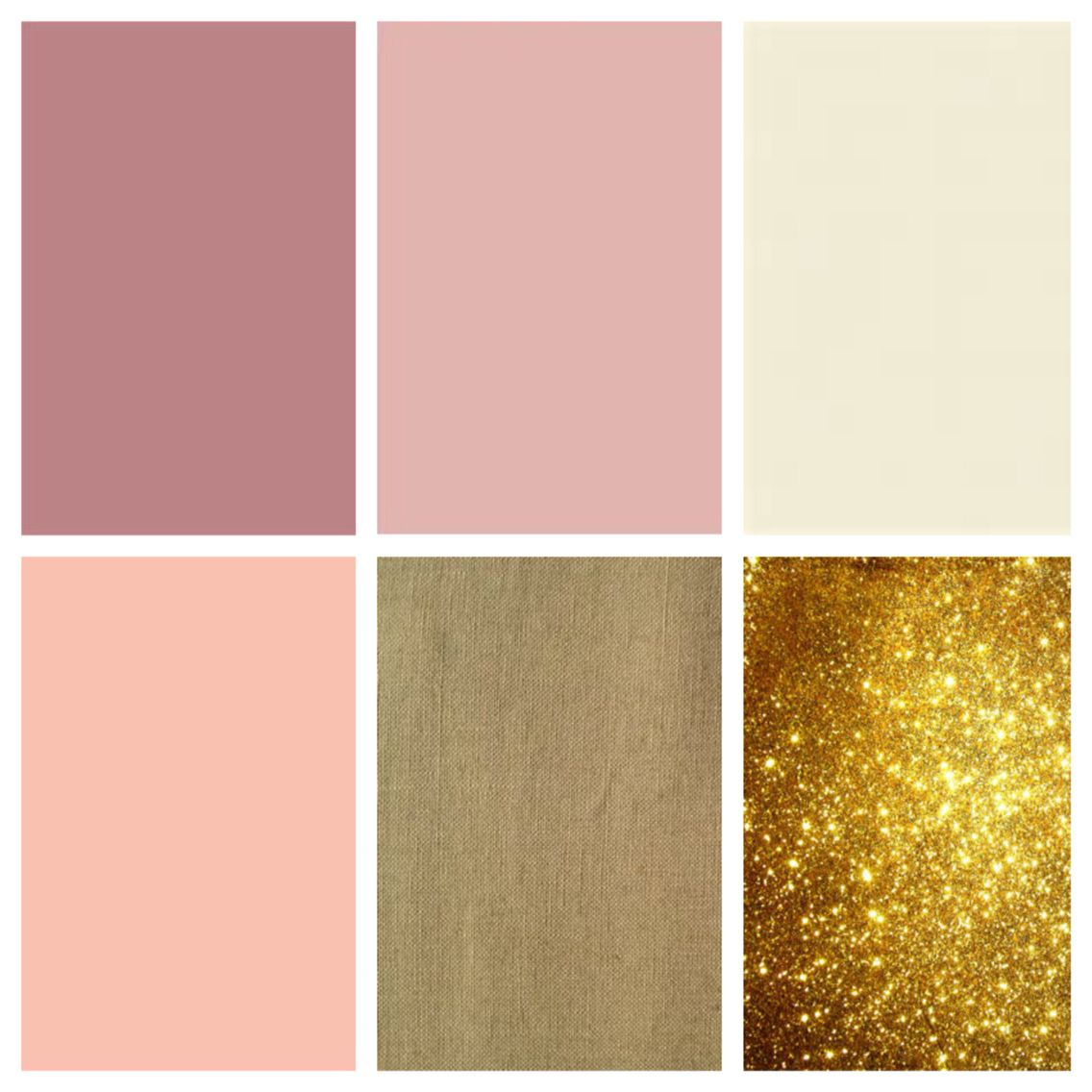 This schematic. Cream, blush-dusty rose, burlap, and gold ...