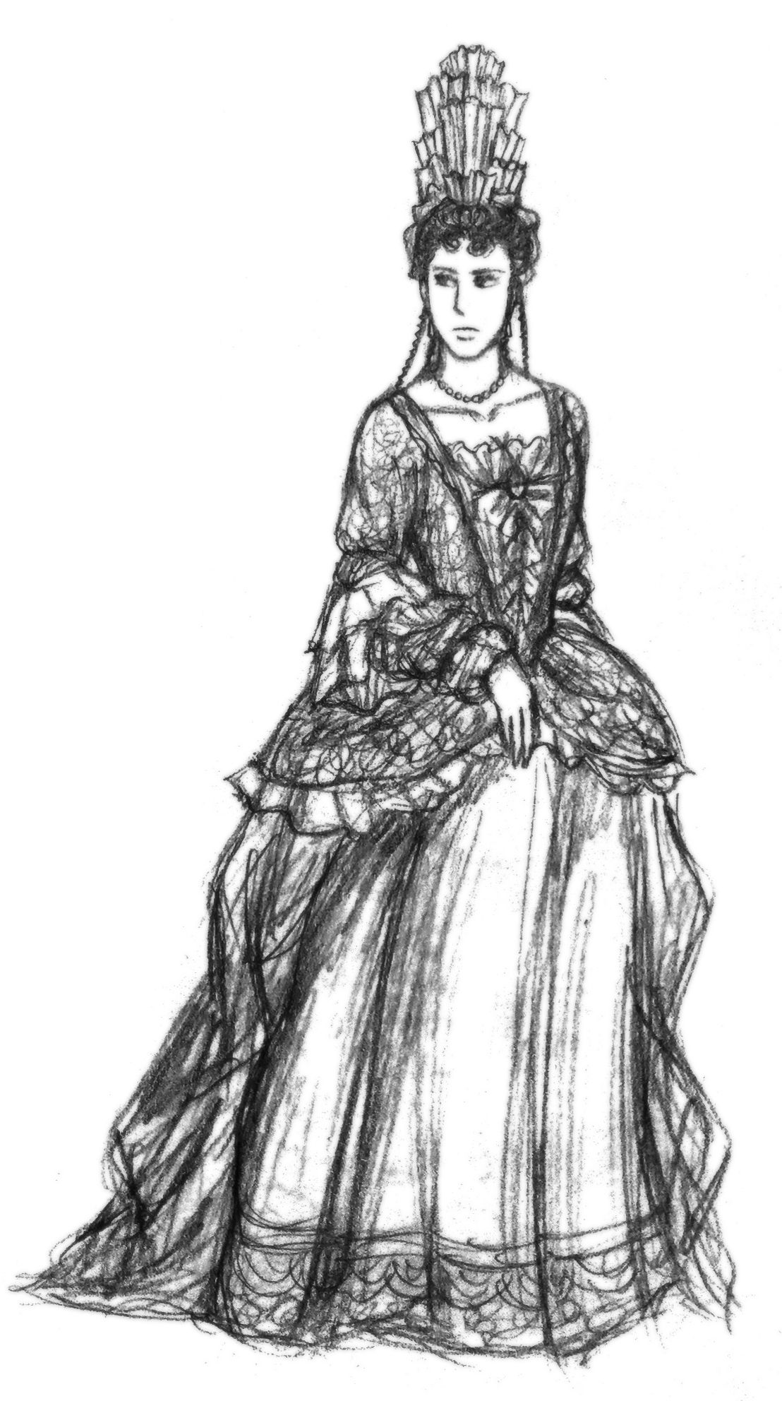 Another 17th century lady with fontange