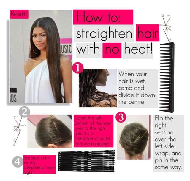 Get hair straight without heat
