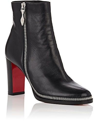 outlet store 62b27 11057 Christian Louboutin Telezip Leather Ankle Boots - Boots ...