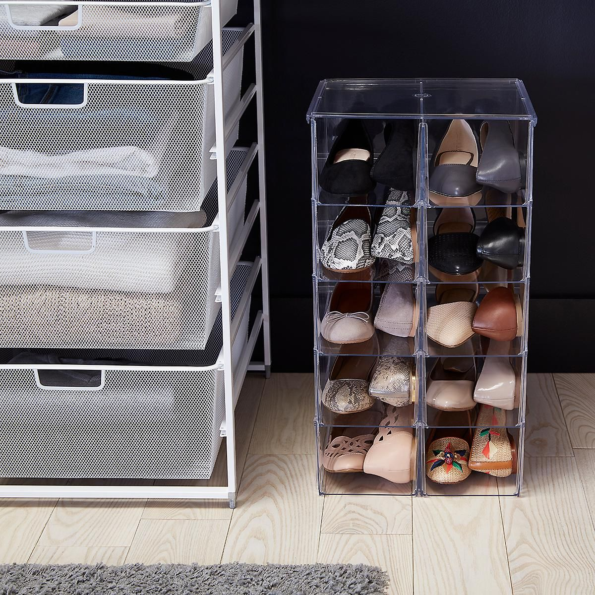 Premium Stacking Shoe Bin Shoe Bin Shoe Storage Container Store