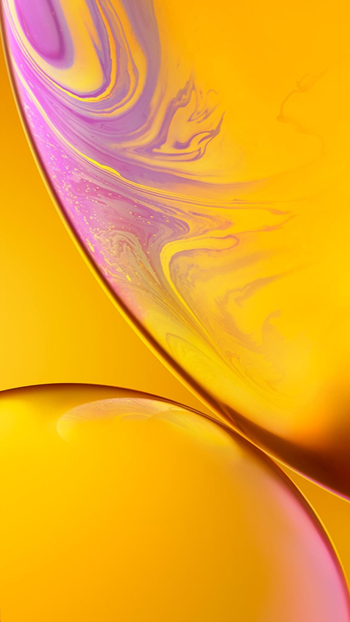 iPhone XR Yellow Wallpaper (notchless) Apple wallpaper
