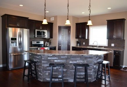 Open concept bi level kitchen view dream kitchen one for Bi level kitchen designs